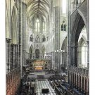 UK London Westminster Abbey High Altar from Choir Vintage J Arthur Dixon Postcard 4X6