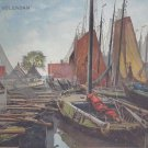 Netherlands Holland Volendam Fishing Sail Boats Vintage Nenke Ostermier Postcard