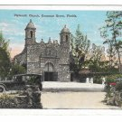 Plymouth Church Coconut Cocoanut Nut Grove Florida Car Auto Vintage EC Kropp Postcard