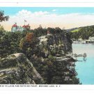 Mohonk Lake NY Swiss Village Bathing Point 1935 Vintage Postcard