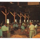 North Carolina Tobacco Warehouse Auction Sale Johnny Trueblood Photo Vintage Postcard