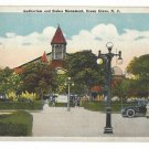 Ocean Grove NJ Auditorium and Stokes Memorial Old Lamppost Vintage Postcard