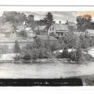 Maine 1932 Grand Lake Stream Town View RPPC Real Photo Postcard