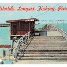 TX Port Lavaca Causeway State Park Worlds Longest Fishing Pier Vtg Postcard
