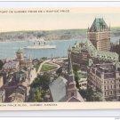 Quebec Canada Vue du Port from the Price Building Vintage Libraire Garneau Postcard