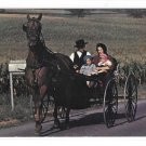 Amish family Horse and Buggy Lancaster Pennsylvania Dutch Country Vintage Postcard
