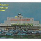 San Francisco International Airport Terminal Building Night Mike Roberts Vintage Postcard