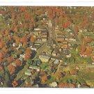 Montrose PA Aerial View Susquehanna County Vintage 1960s postcard