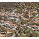 Palos Verdes Estates CA Aerial View Shopping Business Area Vntg Postcard