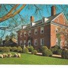 Williamsburg VA Berkeley Plantation Colonial Home Vintage Postcard