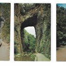 VA Natural Bridge Cedar Creek Trail Tourists 3 Vintage 1960s Virginia  Postccards