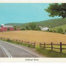 Pastoral Scene American Farm Fields Rural Countryside 1966 Curteich 6DK 1757