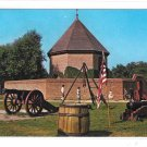Williamsburg VA Powder Magazine War Arsenal Cannon Vintage Walter Miller Postcard