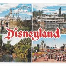 Disneyland CA 4 Views Multiview Postcard Magic Kingdom Posted 1970