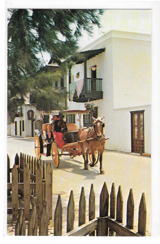 Casa Ribera St Augustine FL San Augustin Antiqua Horse Carriage Rahners Postcard