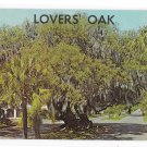 Lovers Oak Brunswick GA Vintage C L Marsh Postcard