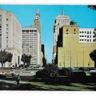 Oklahoma City OK View East on Park Street Vintage Posted 1960 Postcard