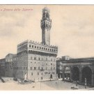 Italy Firenze Piazza della Signoria Florence Vtg 1907 Postcard