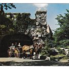 NY Lake Mohonk Mountain House Horse Drawn Carriage Surrey Vintage Resort Postcard