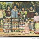 FL Seminole Indians Tropical Hobbyland Miami Florida Postcard Linen Tichnor