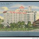 Lakeland FL The New Florida Hotel  Unused Curteich 1952 Linen Postcard