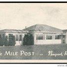 RI The Mile Post Restaurant Roadside Newport Rhode Island Postcard