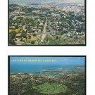 2 Aerial View Honolulu Hawaii as seen from Punchbowl National Memorial Cemetery Vintage Postcards
