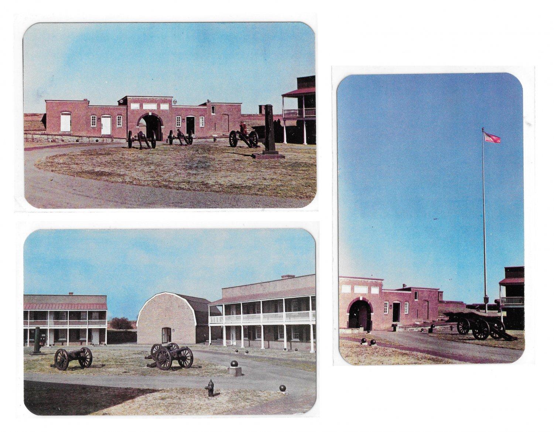 Fort McHenry National Monument Historic Shrine Baltimore MD 1950 3 Vintage Postcards