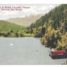 Harrison Hot Springs Canada British Columbia Sailboat on Lake Vintage Postcard