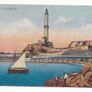 Italy Genova La Lanterna Genoa Lighthouse Sailboat Vtg Cali Postcard