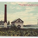 Harrisburg PA Pumping Station Lily Pond Water House Posted 1917 Postcard