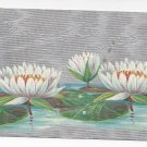 Easter Water Lilies Silver Moire Background Posted 1909 Winsch Back Embossed Postcard