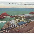 San Francisco CA Cliff House from Sutro Heights Vntg Edw H Mitchell Postcard