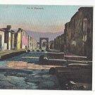 Italy Naples Pompei Pompeii Via di Mercurio Vintage UDB Ragozino Postcard ca 1905