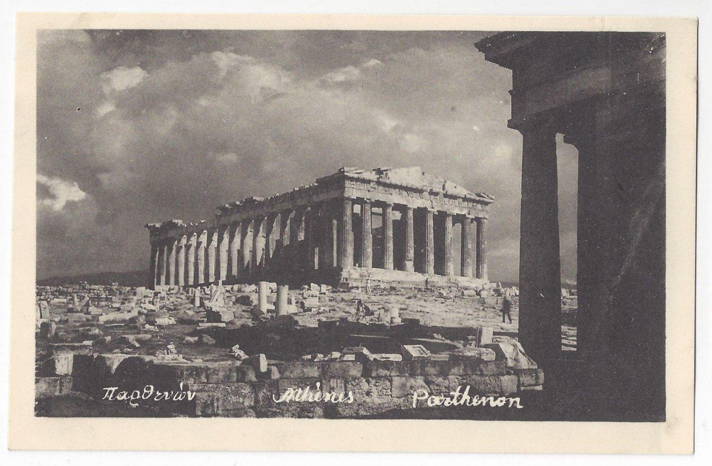 Greece Athens Olympia Parthenon Ruins Archaeology Vintage Greek Postcard