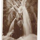 UK Mynach Falls Wales Devils Bridge Waterfalls Valentine's Real Photo Postcard