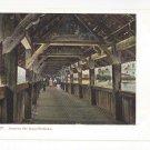 Switzerland Luzern Lucerne Kapellbrucke Interior Bridge Vintage UDB Postcard c 1905