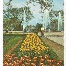 Philadelphia PA Logan Circle Tulip Flower Bed Swann Fountain ca 1970s Postcard 4X