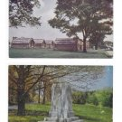Valley Forge National Park PA Camp Site Log Cabins Marker Washingtons First Marquee 2 Postcards