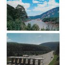 Delaware River Water Gap PA View North Toll Booth I-80 Pocono Mts 2 Postcards