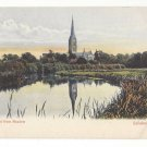 England UK Salisbury Cathedral from Meadow Vintage Milton Artletto Postcard