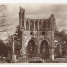 Scotland UK Dryburgh Abbey Tombs Walter Scott Real Photo Vintage Postcard