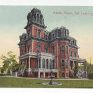 Salt Lake City Utah Amelia Palace Gardo House Vtg ca 1915 Postcard Brigham Young