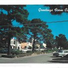 California Greetings from Carmel Ocean Avenue Vintage 60s Postcard
