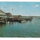 NJ Ocean City Hogates Restaurant Bayfront View Great Egg Harbor Bay Vtg Postcard