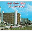 FFL Fort Lauderdale Galt Ocean Mile Panorama Oceanfront Luxury Hotels 1968 Postcard