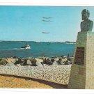 Barnegat Bay NJ Lighthouse Long Beach Island General George Meade Plaque Postcard