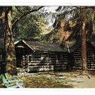 PA Cook Forest State Park Log Cabins at Macbeths Rt 36 Clarion River Vintage Postcard