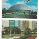 2 Pittsburgh PA Downtown Postcards Equitable Plaza Public Auditorium Sports Arema 1960s