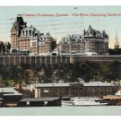 Canada Chateau Frontenac Hotel River View Quebec Vintage Valentine Sons 1915 Postcard